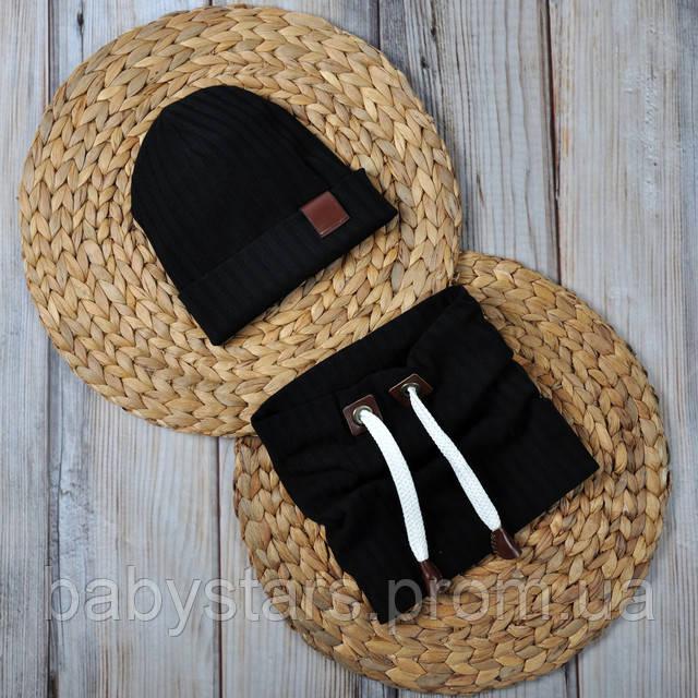 черная шапочка со снудом
