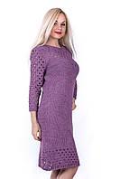 Вязаное платье «Лолита» L, сиреневый