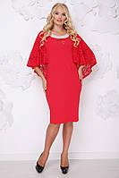 Красное батальное платье размера 50-62