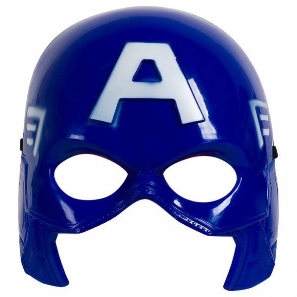 Маска супергероя Капитана Америка светится