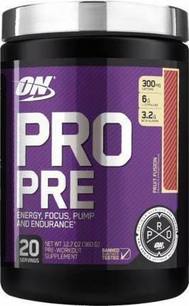 Передтренувальний комплекс Optimum Nutrition Pro Pre 360 g, фото 2