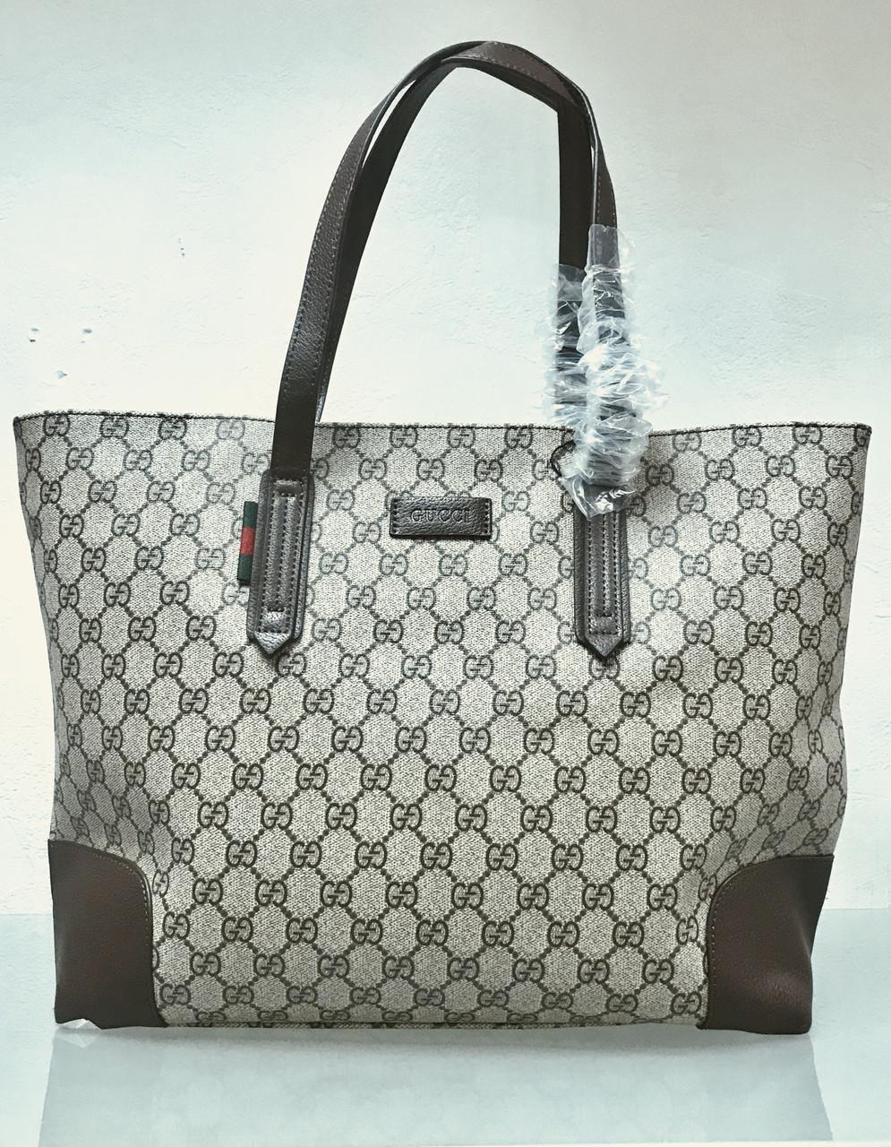 Сумка Gucci беж в логотипах