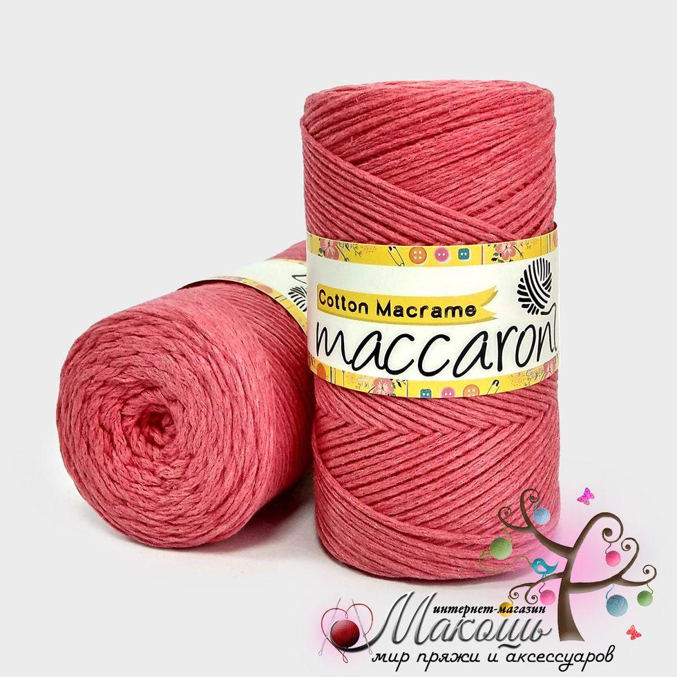 Пряжа Maccaroni Cotton Macrame Коттон Макраме, №256, коралл