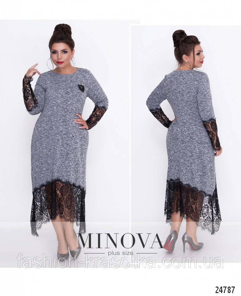 Нарядное женское платье увеличенных размеров 52-62