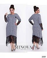 Нарядное женское платье увеличенных размеров 52-62, фото 1