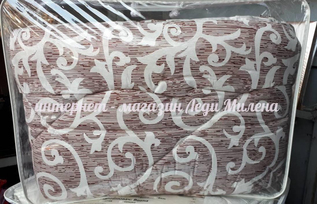 Зимнее теплое одеяло овчина двухспальное от украинского производителя