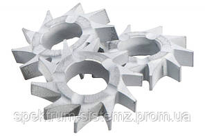 Фрезерные звездочки Metabo с плоскими зубцами, 10 шт