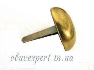 Пукля круглая   20 мм Тертый антик, фото 2