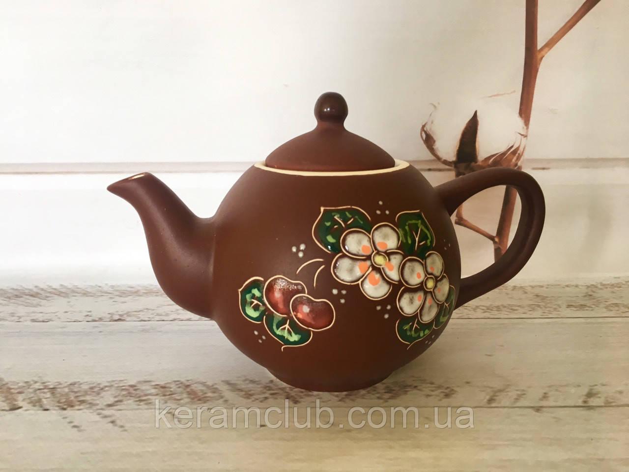 Керамический чайник Вишенка 1л
