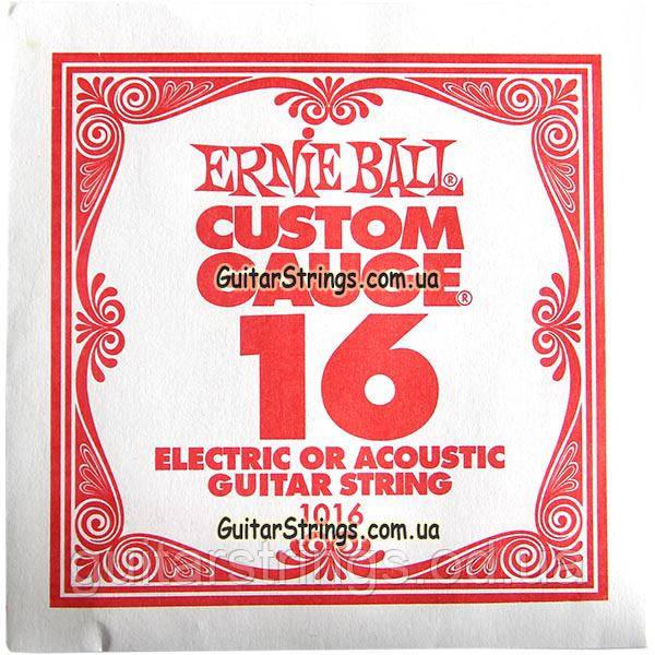 Струна Ernie Ball 1016 Plain Steel .016 (акустика\электро)