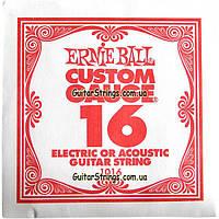 Струна Ernie Ball 1016 Plain Steel .016 (акустика\электро), фото 1