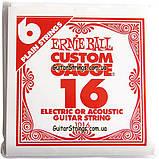 Струна Ernie Ball 1016 Plain Steel .016 (акустика\электро), фото 6