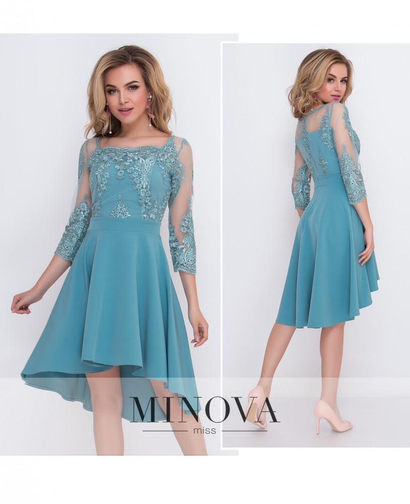 Вечірня сукня з костюмки діагональ та кружева