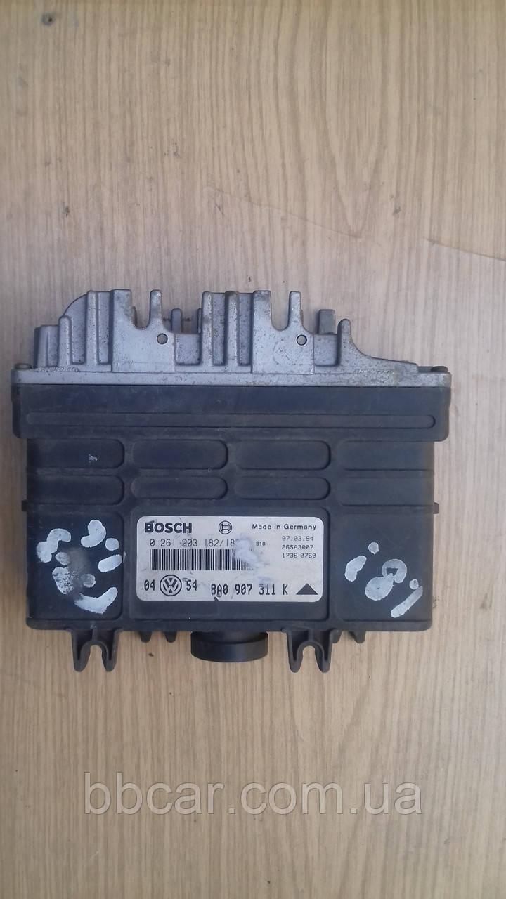 Блок управления двигателем BOSCH Volkswagen Golf-3 1.8 (0261203182(183)\8A0907311K)
