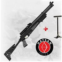 HATSAN AT44-10 TACT LONG (tactical) PCP пневматическая винтовка с насосом, фото 1