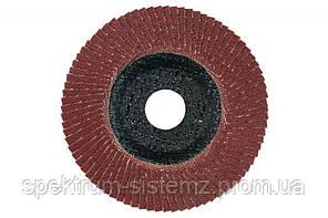 Лепестковый шлифовальный круг Metabo Flexiamant нормальный корунд P 80, 115 мм