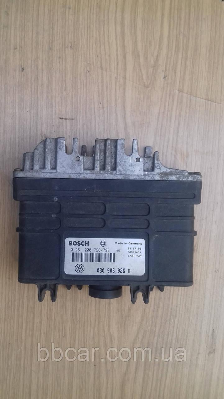 Блок управления двигателем BOSCH Volkswagen Polo-3 1.3 i(0261200796(797)\030906027D)