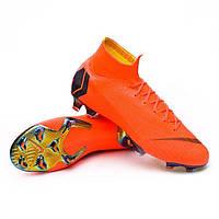 Бутсы Nike Mercurial Superfly 6 Elite FG, Nike, Мужская, Оранжевый, 39, FG копочки, Натуральный газон