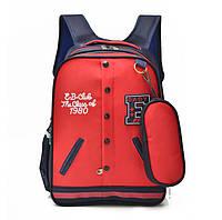 Эксклюзивный рюкзак в форме кофты бомбера с пеналом Коллекция школьных аксессуаров Код: КГ5942, фото 1