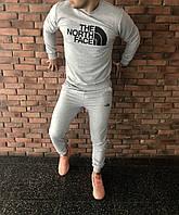Спортивный серый костюм   The North Face logo