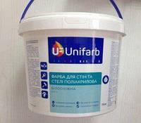 """Краска для стен и потолков акриловая ТМ """"Юнифарб"""", 14,кг"""