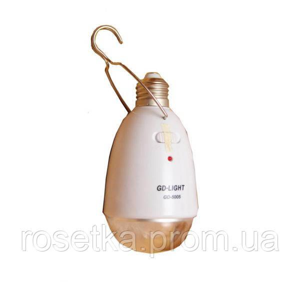 Світлодіодна лампа з акумулятором GD - LIGHT GD 5005, і у Вас світло є завжди