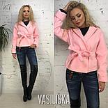 Женское пальто-пиджак из кашемира на подкладке с поясом  (7 цветов), фото 2