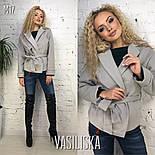 Женское пальто-пиджак из кашемира на подкладке с поясом  (7 цветов), фото 5