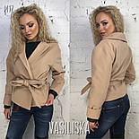 Женское пальто-пиджак из кашемира на подкладке с поясом  (7 цветов), фото 4