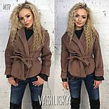 Женское пальто-пиджак из кашемира на подкладке с поясом  (7 цветов), фото 7