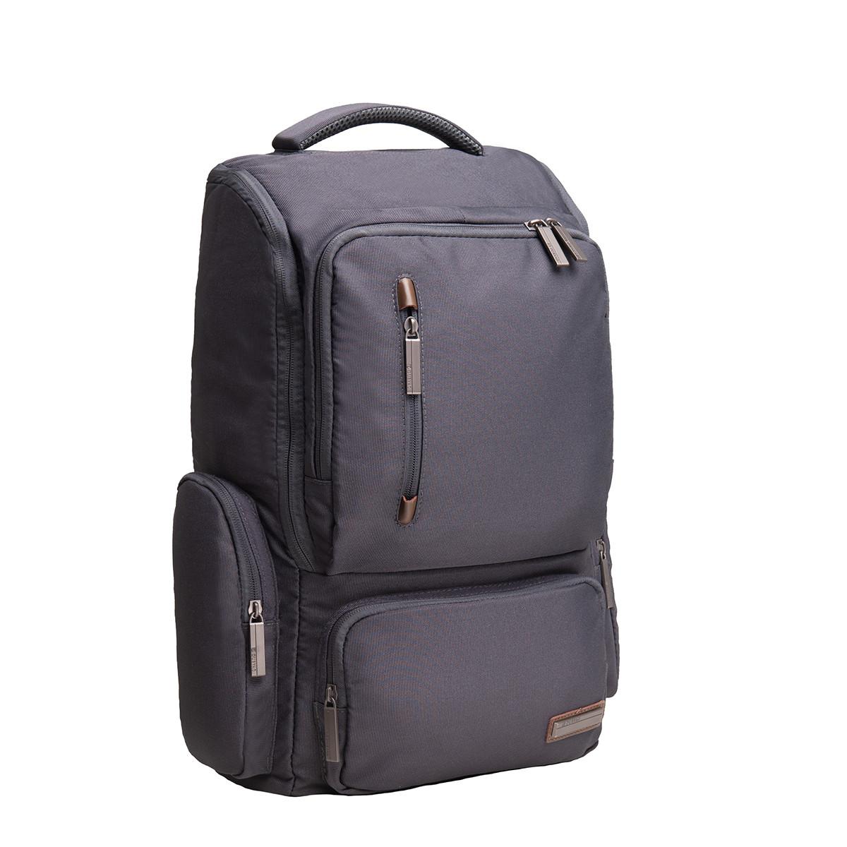 Рюкзак для ноутбука DUBYAO серый  28х46х12  ткань полиэстер   ксС41сер