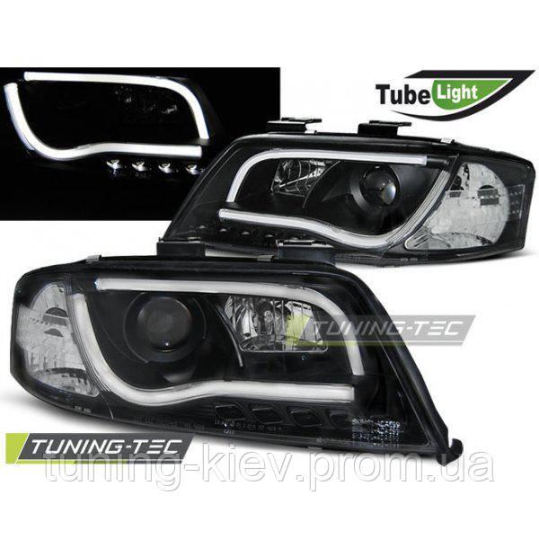 Передние фары AUDI A6 06.01-05.04 LED TUBE LIGHTS BLACK