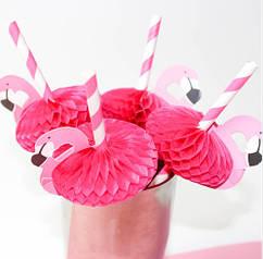 """Коктейльные трубочки """"Фламинго"""" 10шт."""
