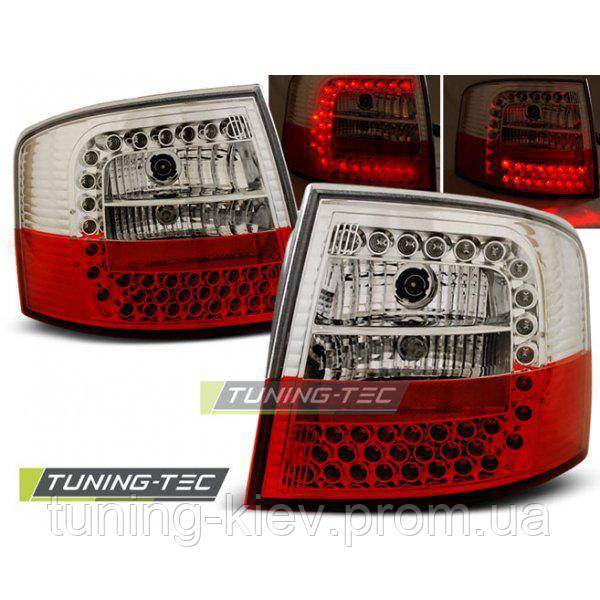 Задние фонари AUDI A6 05.97-05.04 AVANT RED WHITE LED