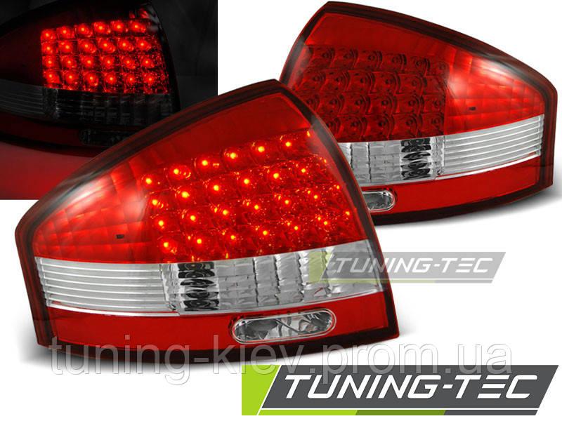 Задние фонари AUDI A6 97-04 RED WHITE LED