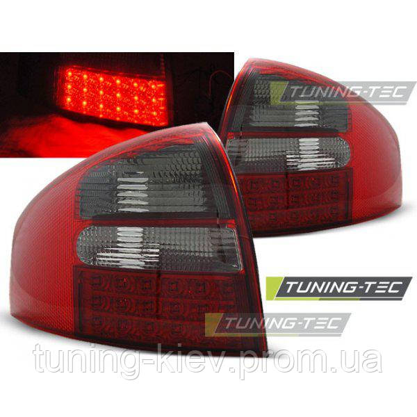 Задние фонари AUDI A6 05.97-05.04 SEDAN RED SMOKE LED
