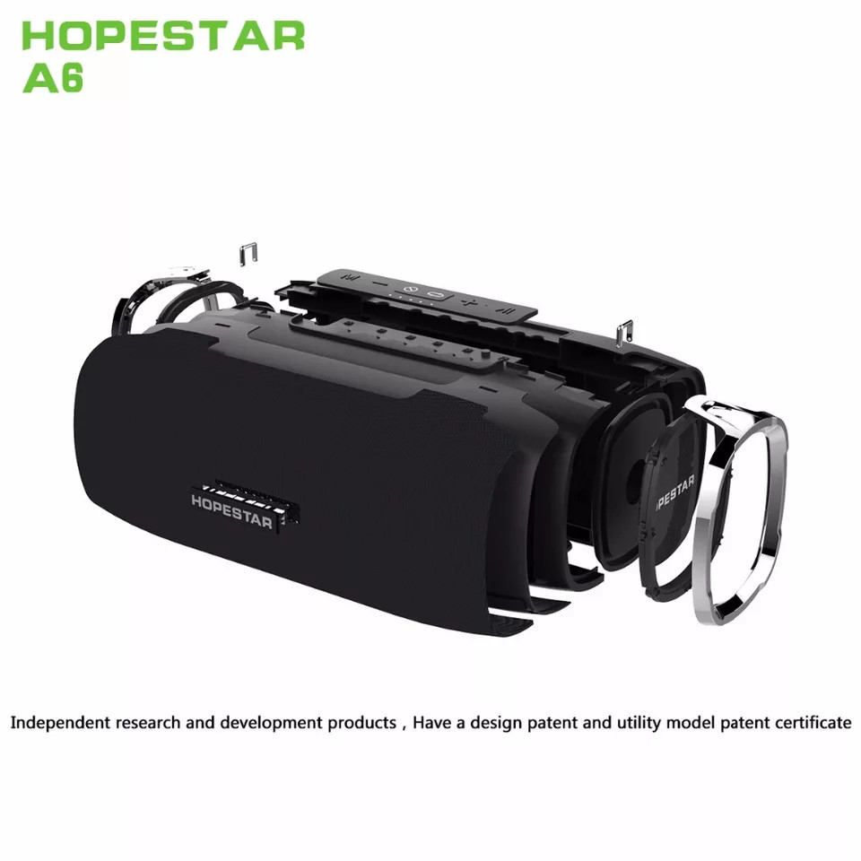 Hopestar A6 Original! большая мощная колонка Bluetooth 2.1, 34W  Черная