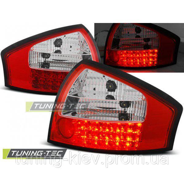 Задние фонари AUDI A6 05.97-05.04 RED WHITE LED