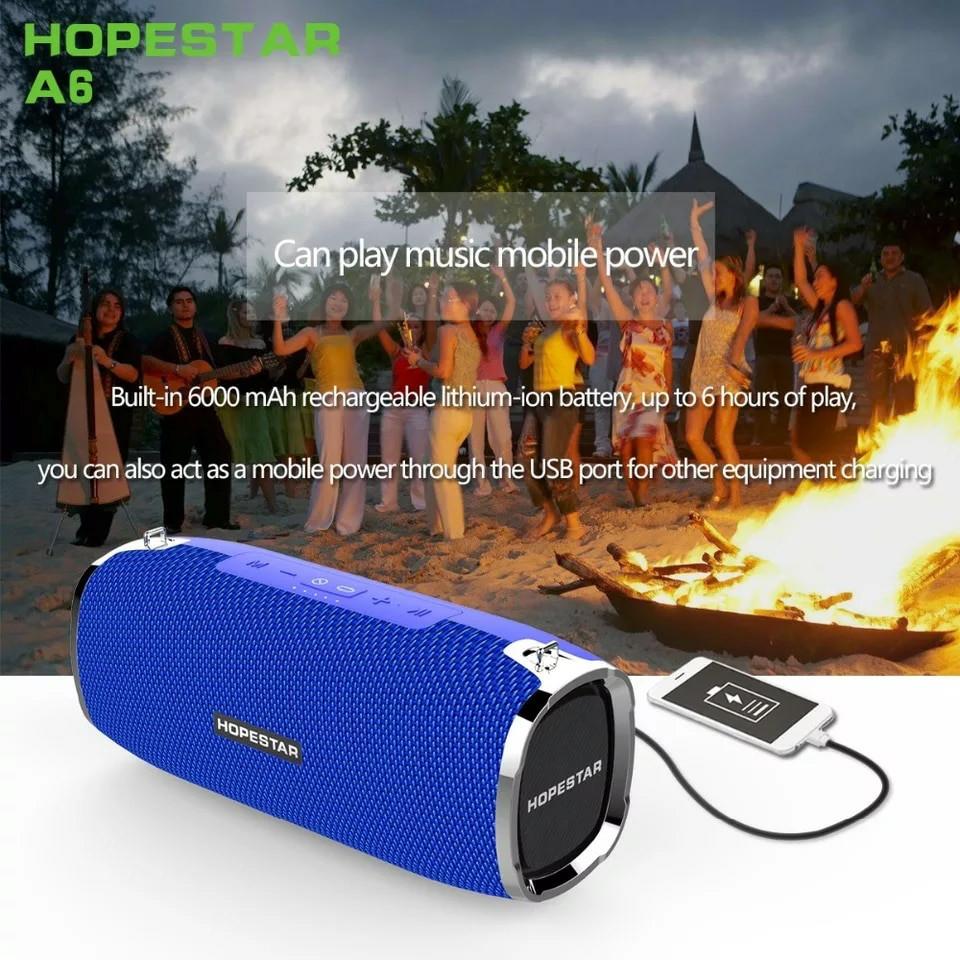 Hopestar A6 Original! большая мощная колонка Bluetooth 2.1, 34W  Синяя