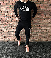Спортивный чёрный костюм   The North Face logo