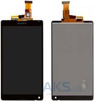 Дисплей (экран) для телефона Sony Xperia ZL L35h C6502, Xperia ZL L35i C6503, Xperia ZL C6506 + Touchscreen Black