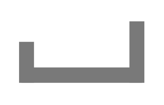 Алюминиевый П-образный профиль 17,5х3х5