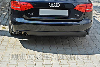Боковые накладки на задний бампер Audi A4 B8 дорестайл