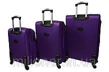 Чемодан на 4 колесах Bonro Tourist (средний) фиолетовый, фото 2