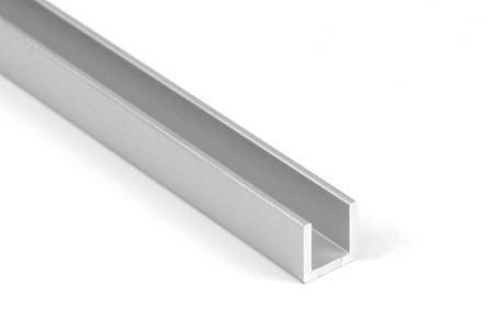 Алюминиевый П-образный профиль 25х25х2мм