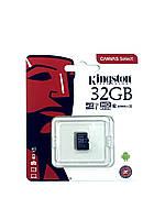 Карта памяти Kingston 32GB microSDHC UHS-I Canvas Select 80R class 10 (SDCS/32GB)