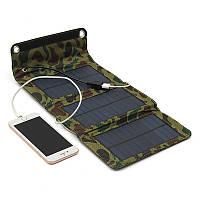 Складное зарядное устройство-солнечная батарея 5W, 6000 mAh