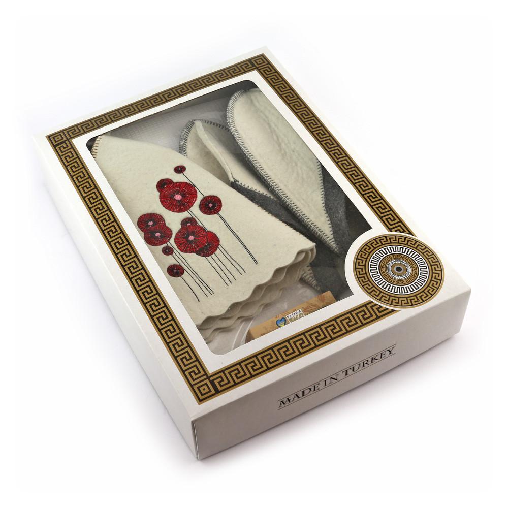 Подарочный набор для сауны №1 Маки, для нее