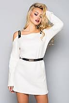 Женское ангоровое платье с открытыми плечами (5020 bej), фото 3