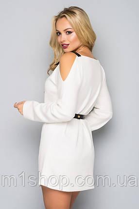 Женское ангоровое платье с открытыми плечами (5020 bej), фото 2